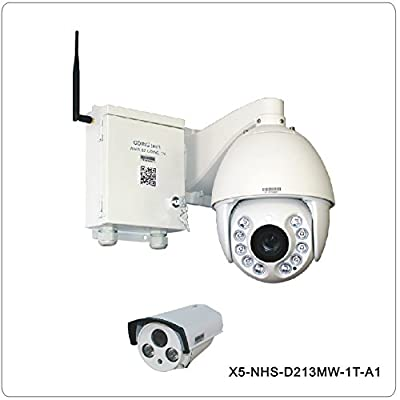 Going Tech X5-NHS-D213MW-1T-A1 1000G harddisk self recroding HD 1.3MP speed dome ptz ip camera wireless + 1 Fixed outdoor ir camera night vision