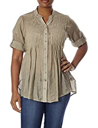 Love Collection Blouse for Women – Voile, Plus-Size...