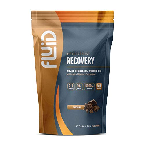Fluid Recovery // Post-Workout Drink Mix with Whey Isolate Protein, L-Glutamine, Carbs, All Natural Ingredients, Gluten-Free, Lactose-Free, Delicious After Exercise Muscle Recovery
