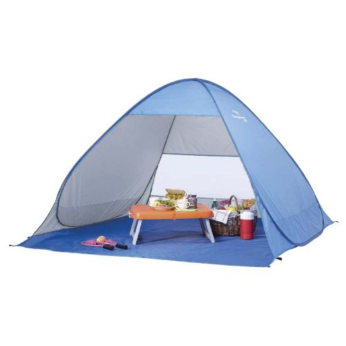 ファンブル迫害説教キャプテンスタッグ(CAPTAIN STAG) テント シャイニーリゾートポップアップビーチ テント UV ブルー[1-2人用] M-5781