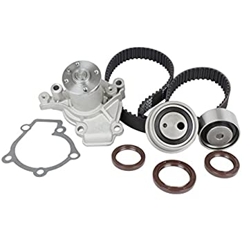 Amazon eccpp20l g4gf engine timing belt kit water pump kit dnj timing belt kit with water pump tbk124awp for 97 11 hyundai kia 4 cyl sciox Images