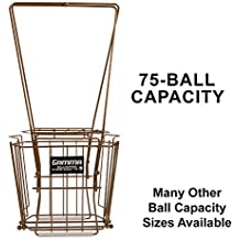 Gamma Sports Tennis Ballhoppers - Durable, Convenient, Heavy Duty Construction, for Tennis Ball Pickup, Carrying and Storage, (Various Designs/Capacities to Hold 50, 55, 75, 80, 90, 110, 140 Balls)