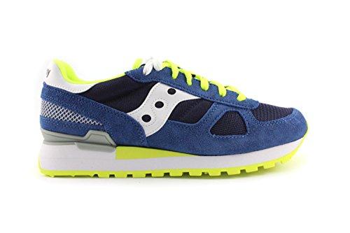 Sneaker Saucony Shadow en suede azul royal turquesa