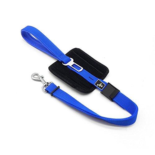 Adjustable Dog Car Safety Seat Belt Harness (Blue) - 5