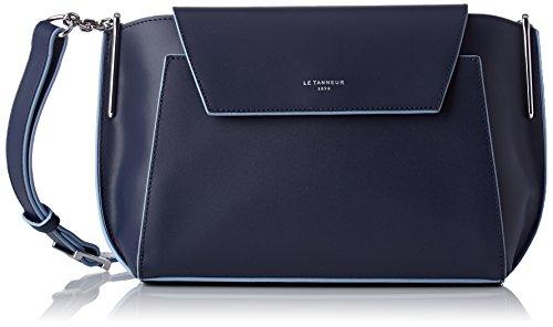 Le Tanneur Damen Lily Tyi1200 Umhängetasche, 7x18x29 centimeters Blau (Crépuscule)