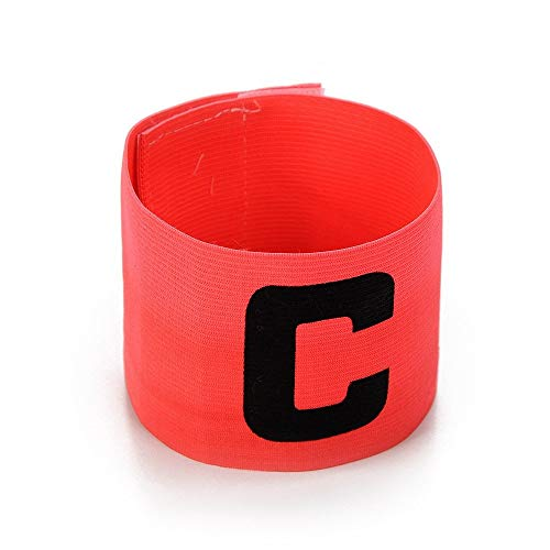 (UNAOIWN Captain Armband Soccer Football Elastic Adjustable Player Bands for Adult and Child (Pink))
