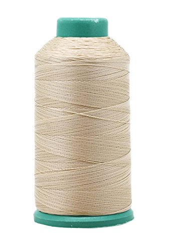 Mandala Crafts Bonded Nylon Thread for Sewing Leather, Upholstery, Jeans and Weaving Hair; Heavy-Duty; 1500 Yards Size 69 T70 (Cream)