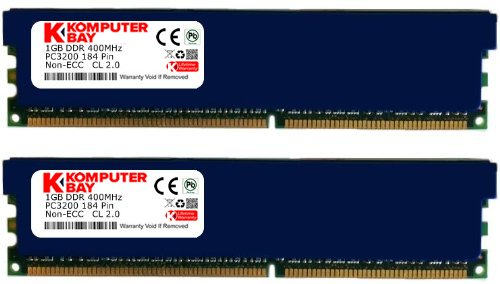 Pc Pin 3200 184 Ddr400 - Komputerbay 2GB ( 2 x 1GB ) DDR DIMM (184 pin) 400Mhz PC 3200 CL2.0 Low Density Heat Spreaders 2 GB KIT