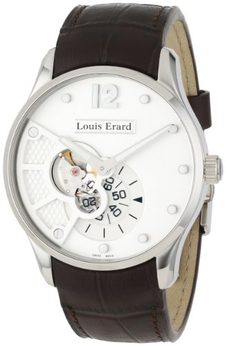 Louis Erard Men's '1931' Automatic Stainless Steel and Leather Dress Watch, Color:Brown (Model: 30208AA01.BDC40)