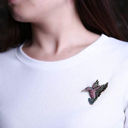 Multicolore Alliage cr/éatif broche oiseau en forme de strass broche Decor bijoux pour broche de collier de mode /à la mode f/éminine