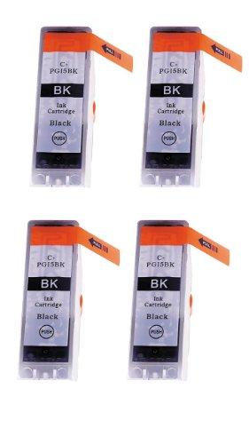 4 Pack - Toners & More ® Compatible Black Inkjet Cartridge for Canon PGI-5 PGI5, PGI-5BK Large Black, Compatible with Canon PIXMA IP5200R, IP3300, IP3500, IP4200, IP4300, IP4500, IP5200, MP500, MP510, MP520, MP600, MP610, MP800, MP810, MP830, MP950, MP96