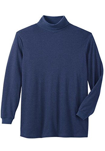 Kingsize Mens Turtleneck Long Sleeve Cotton