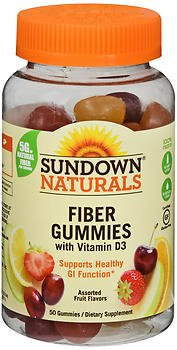 Sundown Naturals Fiber Gummies - 50 ct, Pack of 4