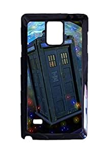 Engood Design Doctor Who TARDIS Flower Art Case Durable Unique Design Hard Back Case Cover For Samsung Galaxy Note 4 New WANGJING JINDA