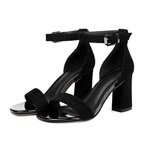 Femme Noir Noir Bout 5 Ouvert 36 AdeeSu qxPZEAwf