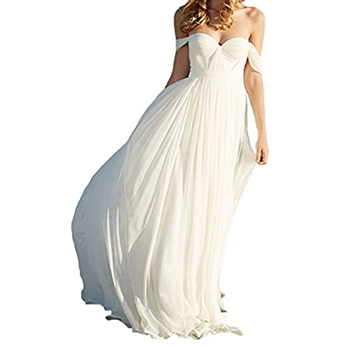 Maternity wedding dresses under 100 amazon lovelybride elegant a line empire long chiffon bridal beach wedding dress 12 ivory junglespirit Gallery