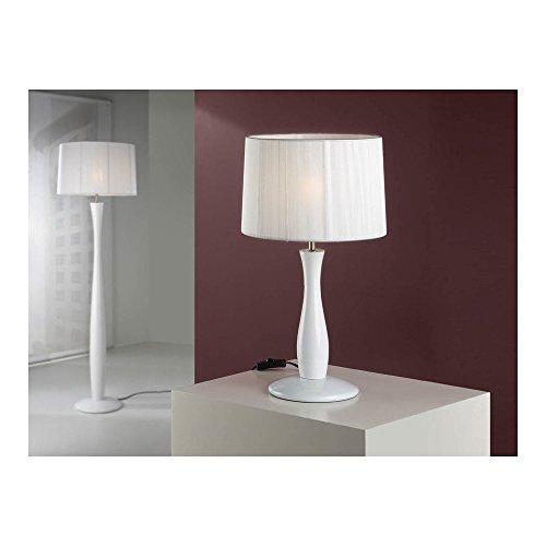 Schuller Spain 663035I4L Modern White Shade Table Lamp 1 Light Living Room, bed room, Study, Bedroom LED, White shade White Table Lamp | ideas4lighting by Schuller