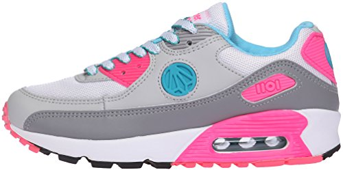 Paperplanes-1101 Unisex Fashion Colorful Air Cushion Trendy Sneakers White Gray Pink pNxC0