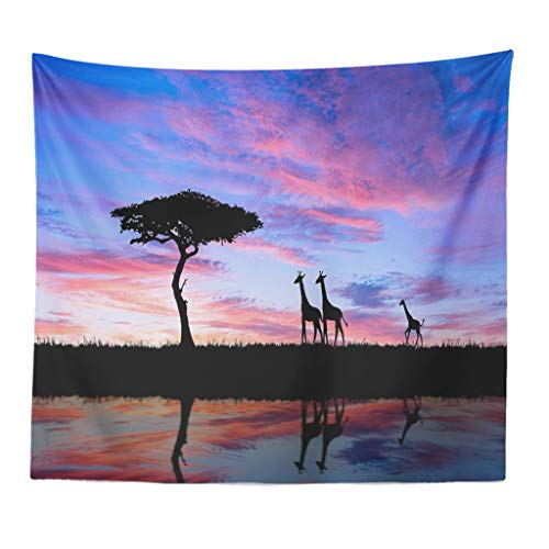 Tapestry Polyester Fabric Wallpaper Art Animals Landscape Wall Hanging Tapestry Decorations Bedroom Living Room Dorm - 150x130cm (Tree and -