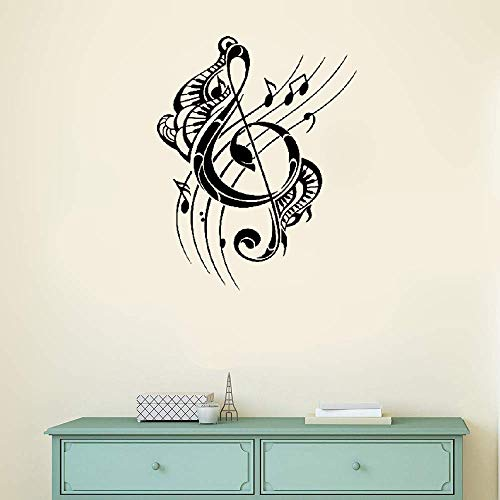Peel and Stick Removable Wall Stickers Music Musical Notes for Music -