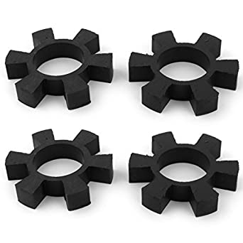 eDealMax de goma 6 Pétalo de enganche Con tope Drive Shaft Centro de araña acoplador Amortiguador