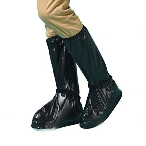 Whose Lemon Women Men Waterproof Shoes Cover High Boot Rain Snow Reusable Shoes Covers (Black XXL)