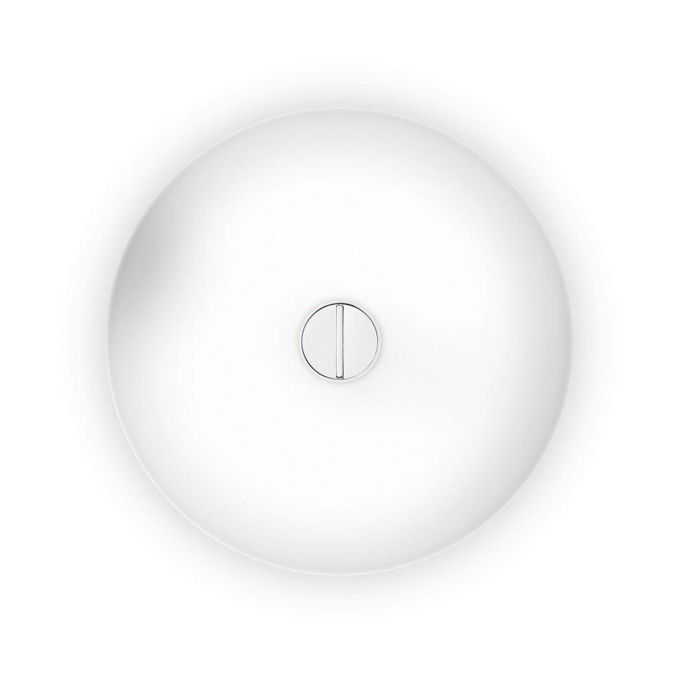 Weiß Flos Button Fl Deckenleuchte Wandleuchte, Opalglas, Polycarbonat, Weiß