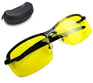 Night Vision Glasses   Protected Polarized HD Night Vision Glasses for Safe Night Driving and Ultra Enhanced Vision, Lightweight Frame with Stylish Unisex Design