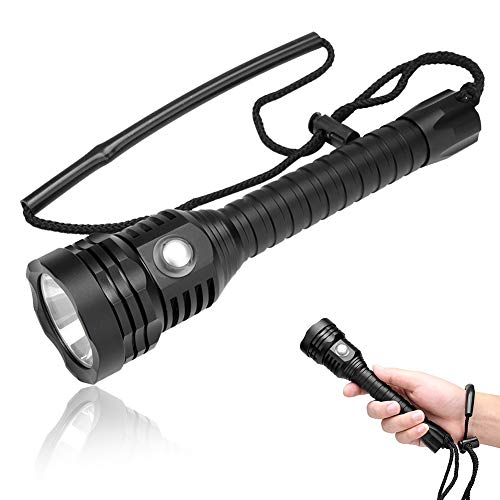 Flashlight, 5000 Lumen Super Bright 100m Underwater Waterproof LED Torch Scuba Dive Lights Submersible Lights for Ourdoor Fishing Camping Diving and Outdoor Activities ()