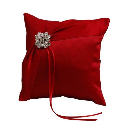 Ivy Lane Design Garbo Collection Ring Pillow, Claret