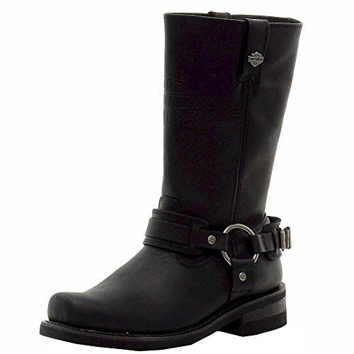 Harley-Davidson Men's westmore Motorcycle Harness Boot, Black, 8.5 M (Square Toe Harness Boot)