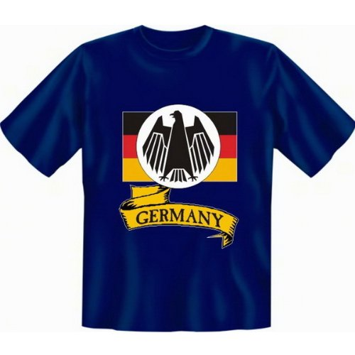 Fun T-shirt Germany Fb royal blau