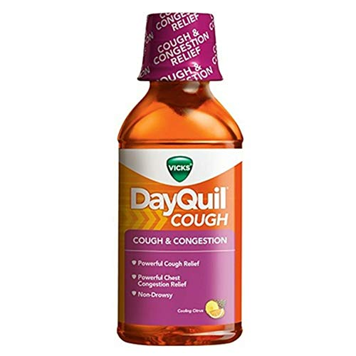Vicks DayQuil Mucus Control Liquid Citrus Blend Flavor - 12 oz, Pack of 2
