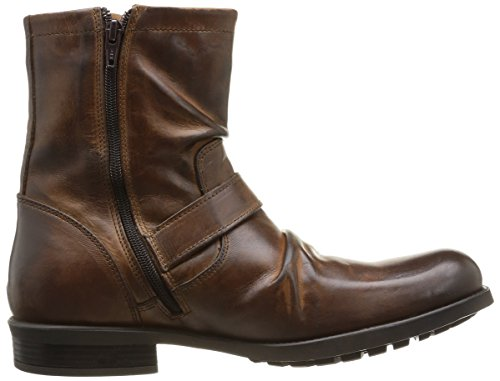 Stivali In Pelle Di Metallo Mens Londra Base Tan