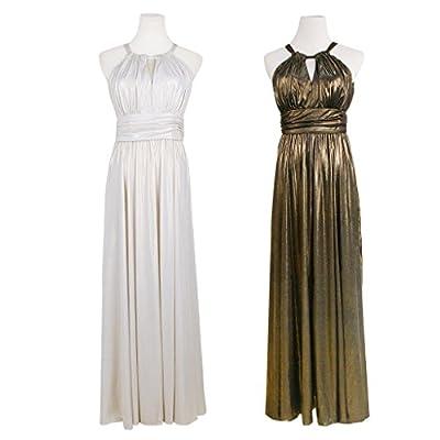JNTworld Women Sexy Keyhole Sleeveless Elegant Formal Evening Wedding Long Dress