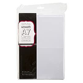 """Darice 110366 Heavyweight A7 Cards W/Envelopes (5.25""""X7.25"""") 50/Pkg, White 58 Make custom and personalized invitations, announcements, special notes and cards This package contains fifty 5x7 inch cards and fifty 5.25x7.25 inch envelopes Imported"""