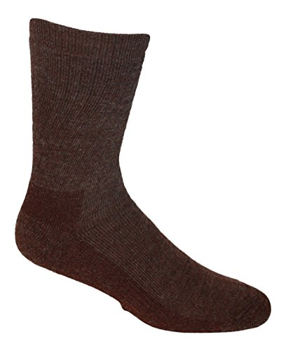 Alpaca Wool Hiking and Everyday Socks (M ( (6-8.5), Cocoa Brown)