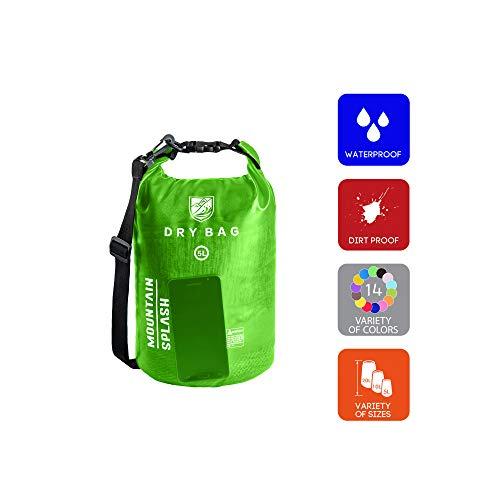 Waterproof Bag-Dry Bag-Waterproof Backpack-Dry Bags-Dry Sack-Dry Pack-Waterproof Bags-Kayak Bag-Boat Bag-Dry Backpack-Camping Gear Bag-Bag Waterproof-Dry Bag Backpack-Wet Dry Sack (5L, Grass)