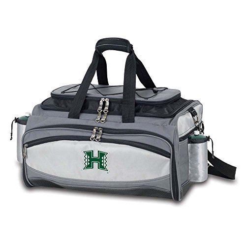 Hawaii University Embroidered Vulcan BBQ grill Grey/Black by PICNIC TIME