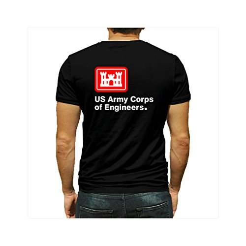 (Trooperbay US Army Corps of Engineers USAR Black Short Sleeve Shirt (XX-Large))