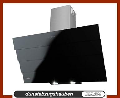 Dunstabzugshaube maan saturn 90 cm touchscreen auf dem schwarz glas