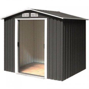 El soporte de metal caseta de jardín de la casa de los dispositivos de la casa de riverton 6 x 4 Meter en colour gris oscuro: Amazon.es: Bricolaje y ...