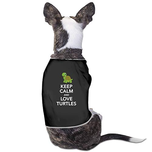LzVong Keep Calm and Love Turtles Pet Clothing T Shirts Costume Vest Pet Suit]()
