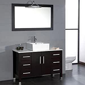 "Cambridge Plumbing 8116 48"" Bathroom Vanity Set with a Polished Chrome Faucet, 48"" x 20"" x 30"""