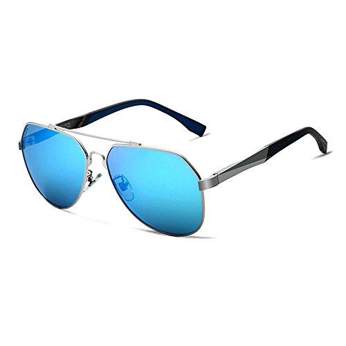 Inoxydable Soleil en Acier Douerye Blue Hommes Lunettes De Polarisées Légères UE70qf