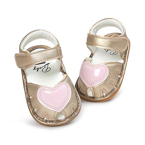 ... Igemy 1Paar Baby Mädchen Sandalen Casual Sneaker Anti-Rutsch Soft Sole  Kleinkind Schuhe Gold ...