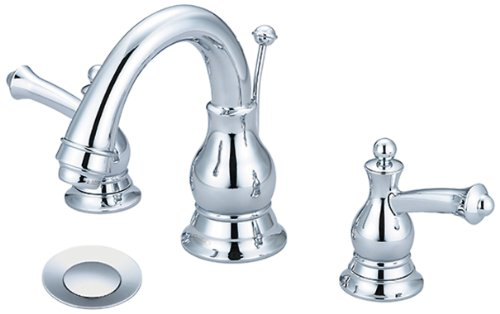 (Pioneer 3BL200 Two Handle Lavatory Widespread Faucet, PVD Polished Chrome Finish)