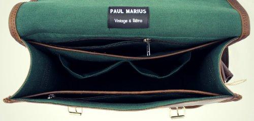 La Borsa a tracolla (M) INDUS, borsa pelle vintage, la borsa a mano, borsa a tracolla, (A4), PAUL MARIUS, Vintage & Retro