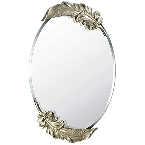 SYLJ Bathroom Mirror - Elliptical Wall-Mounted washbasin Mirror Vanity Mirror, 5mm Bevel Mirror