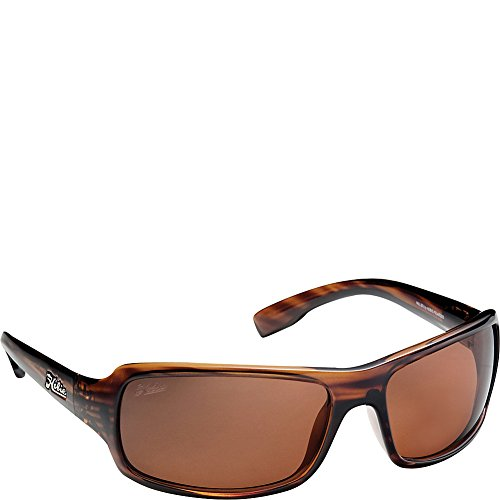 Hobie Malibu Rectangle Sunglasses,Brown Wood Grain Frame/Copper Lens,One Size